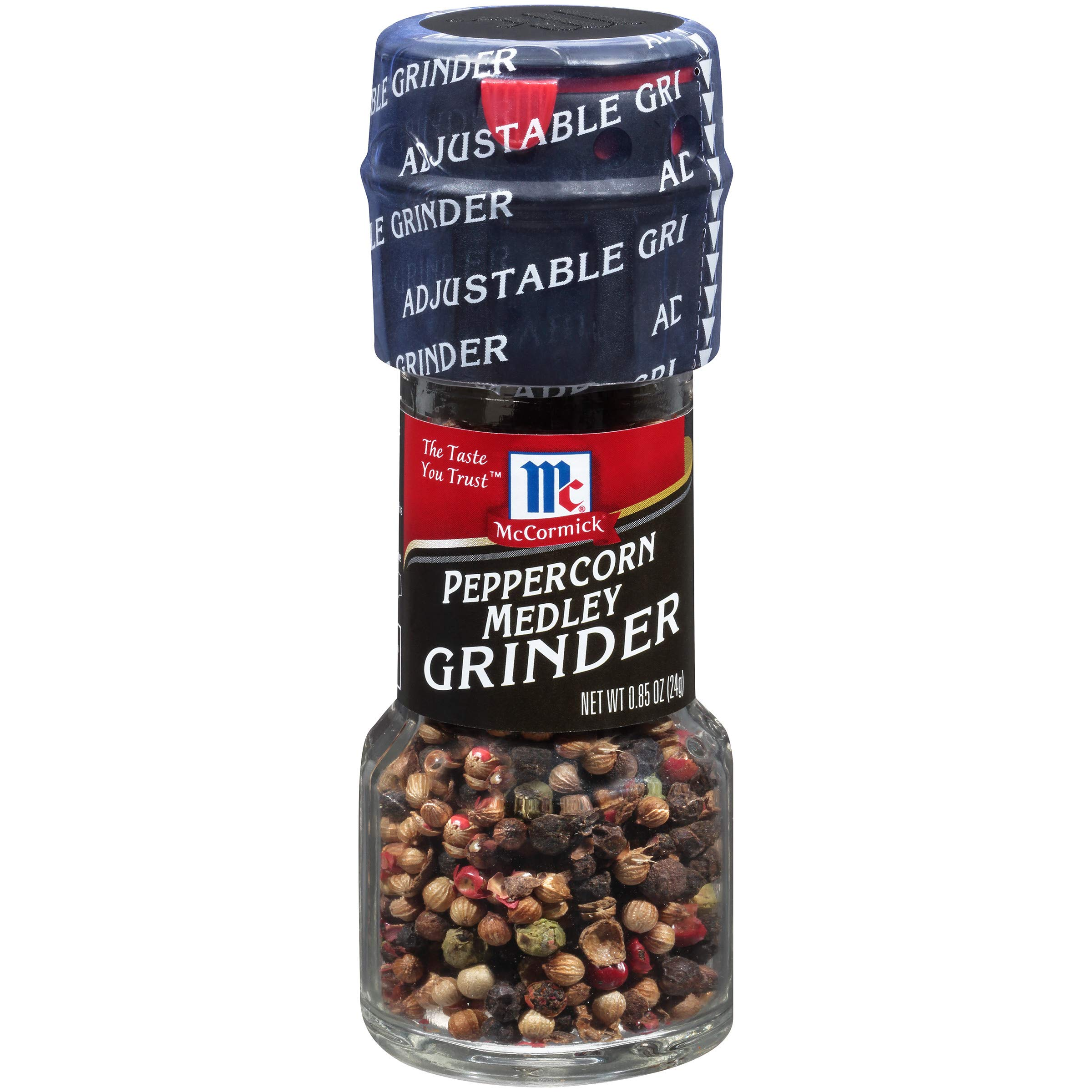 McCormick Peppercorn Medley Grinder, 0.85 oz, Pack of 6