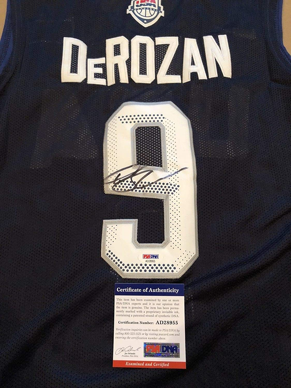 9295212ae Demar Derozan Autographed Signed Custom Usa Jersey San Antonio Spurs  Raptors with PSA DNA COA NBA - Size XL at Amazon s Sports Collectibles Store