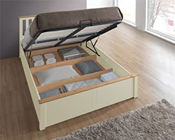 9db2a015e23e Image Unavailable. Image not available for. Colour: Phoenix Wood Ottoman Bed  Frame Storage ...
