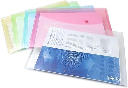 Blu Rapesco 0684 Portadocumenti Trasparente Confezione da 5 pezzi