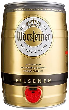 Warsteiner Premium Pilsener 5 Liter Fass Partyfass Mit Zapfhahn Internationales Bier Nach Deutschem Reinheitsgebot Pfandfreies Bierfass Auch Im