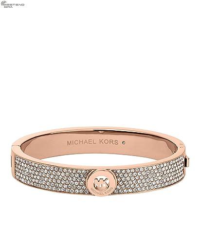47ce20a66211c Michael Kors MKJ4000 Rose Gold Fulton Pave Hinge Bracelet  Amazon.co.uk   Jewellery