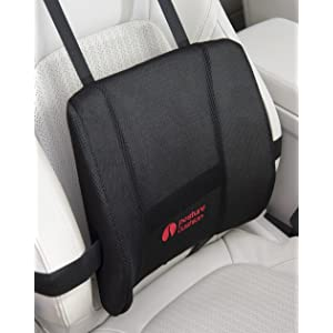 Posture Cushion - Maxi Lumbar Support Cushion With High Density Foam And Multiple Strapping, Will NOT Keep Moving Around. Great For Improving Posture And Pain Relief. Helps Prevent Back Pain While Sitting In The Car Home And Office. Available With Black Mesh Cover And Anti Slip Backing. Great Quality And Value For Money.