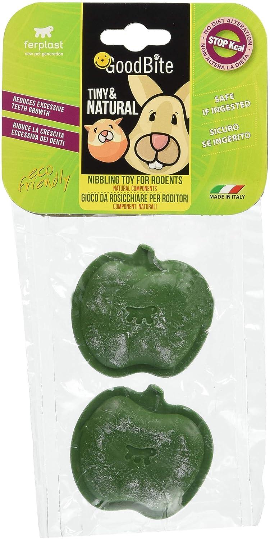 Ferplast Pack de 2 Jouets à Mâcher pour Rongeurs Goodbite Tiny & Natural Pomme 88415023