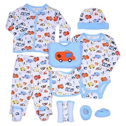 97d05ce577 Buy JOON 11-Piece New Born Baby Boys Essentials Gift Set, Blue, 0-6 ...