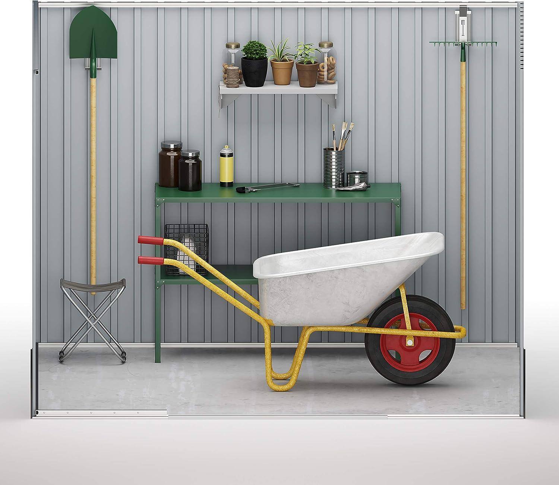 Abri jardin en m/étal Gris Stockage Mediana Wasabi Stark 5,6 m2 gris