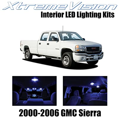XtremeVision Interior LED for GMC Sierra 2000-2006 (16 Pieces) Blue Interior LED Kit + Installation Tool: Automotive