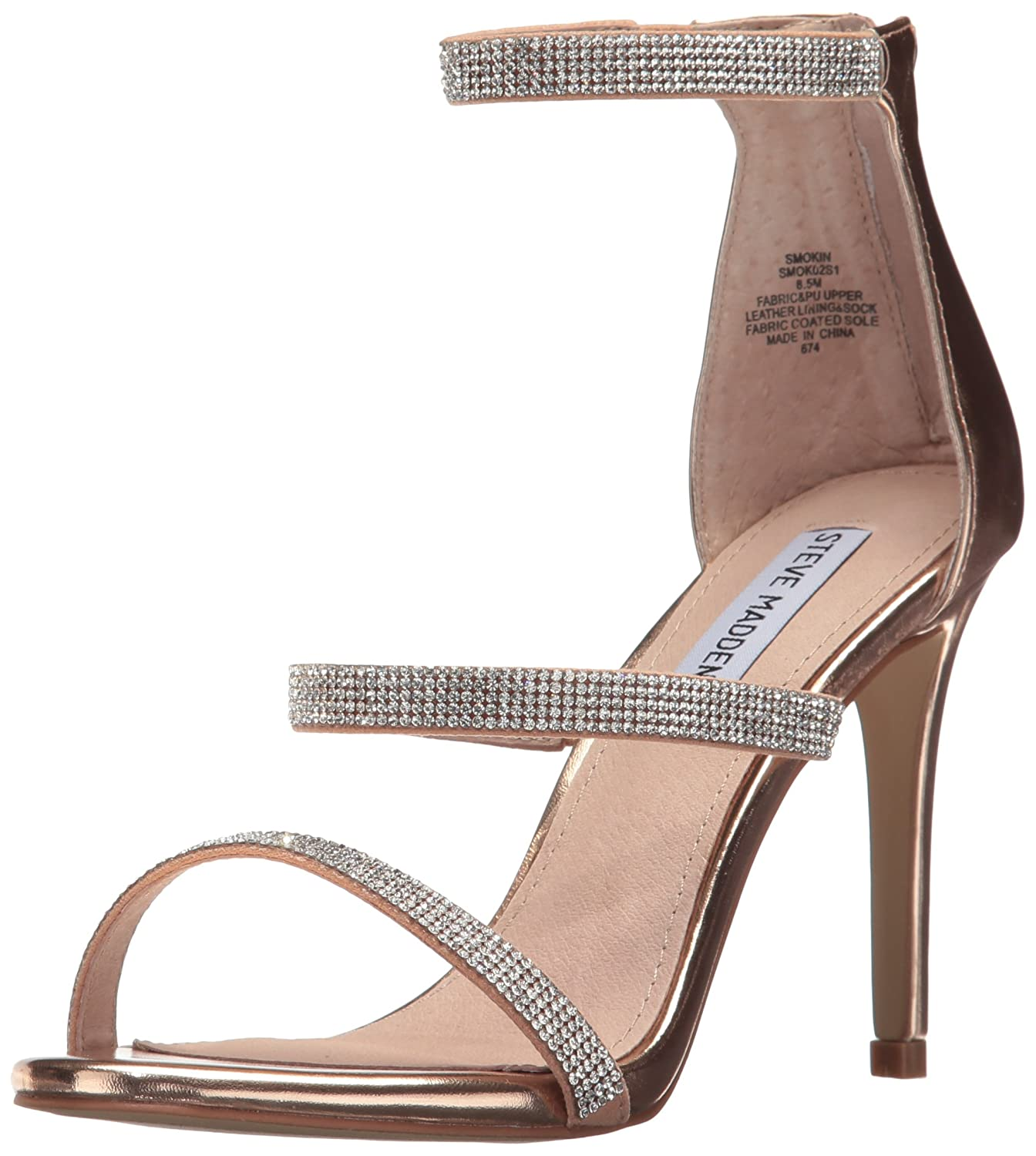 44d8dedea4 Amazon.com | Steve Madden Women's Smokin Heeled Sandal | Heeled Sandals
