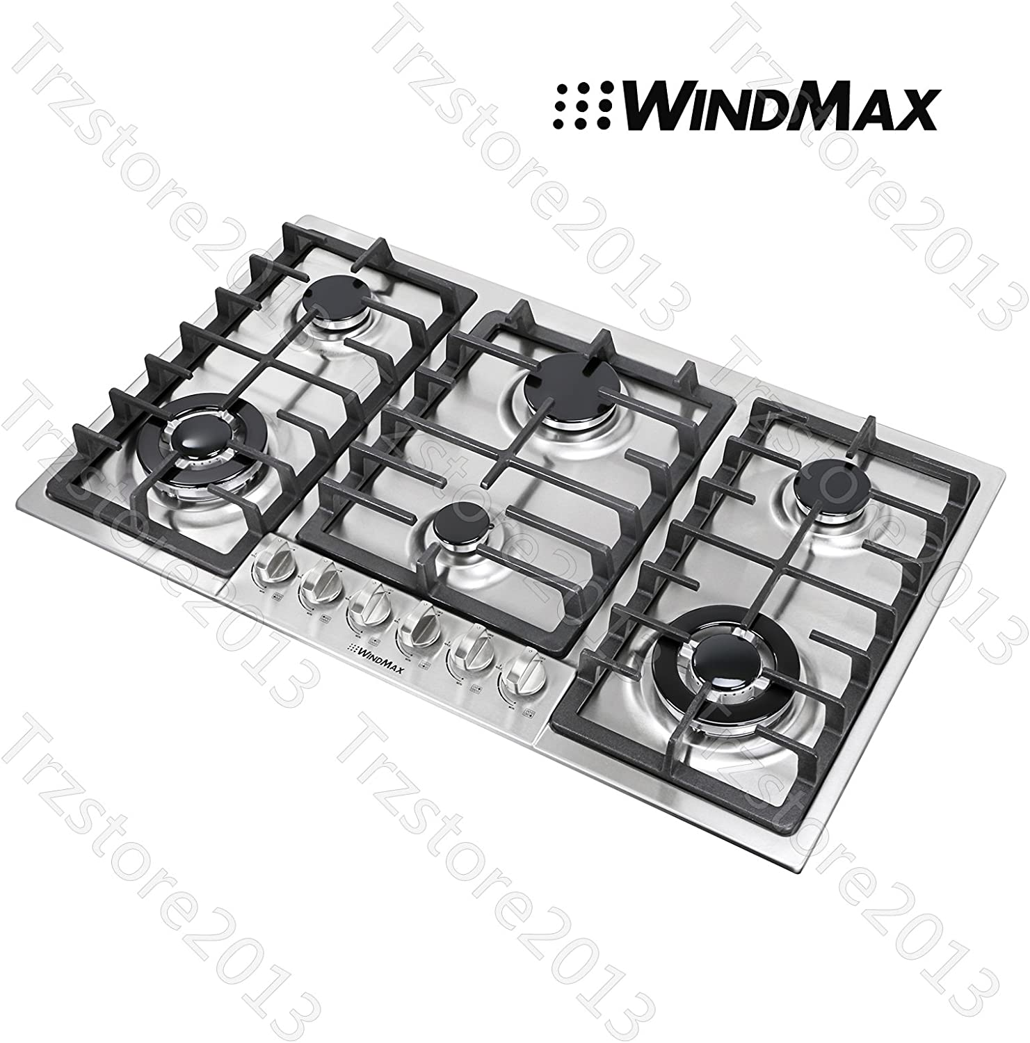 Amazon Com Windmax 34 Titanium 6 Burners Built In Stoves Ng Lpg Cooktops Cooker Us Stored 68023 Appliances