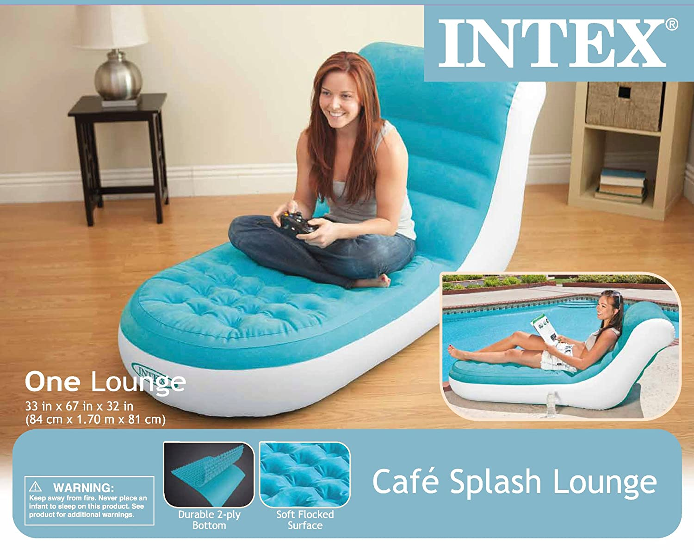 Amazon Com Intex Splash Inflatable Lounge 33 X 67 X 32 Sports