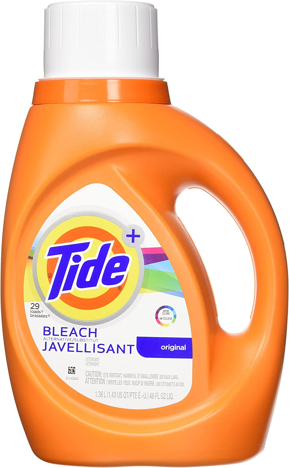 Tide Plus Bleach Alternative Safe on Colors Liquid Laundry Detergent, Original Scent, 1.36 L (24 Loads)