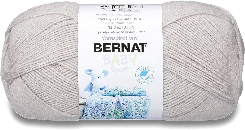 Bernat Baby Sport Big Ball Yarn Solids-Baby Grey
