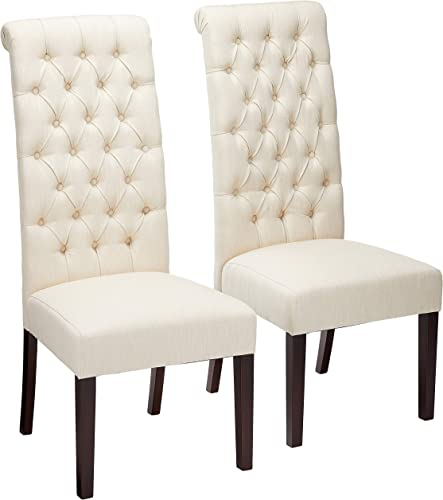 Christopher Knight Home CKH Tall Tufted Fabric Dining Chair