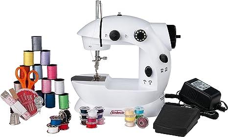 Sunbeam Mini portátil máquina de coser pedal adaptador de CA y más ...