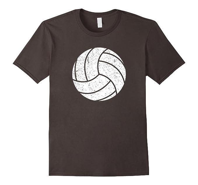 f6234e8c Mens Love Volleyball Shirt - Distressed Volleyball Graphic 2XL Asphalt