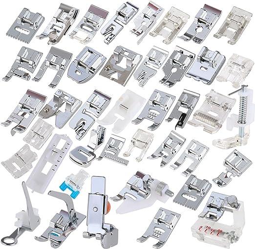 Ultnice, juego de patas para máquina de coser profesional doméstica para amas de casa (42 piezas): Amazon.es: Hogar