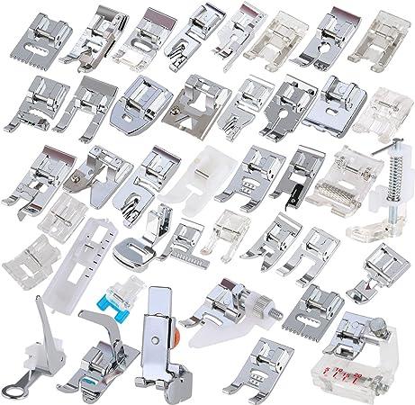 ROSENICE 42pcs Kit de prensatelas máquina coser Pies para Brother ...