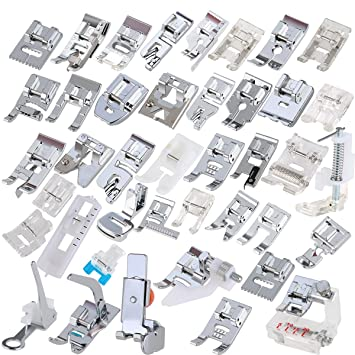 ROSENICE Sewing Machine Domestic Foot Presser Feet Set for Brother Singer Janome A 42pcs