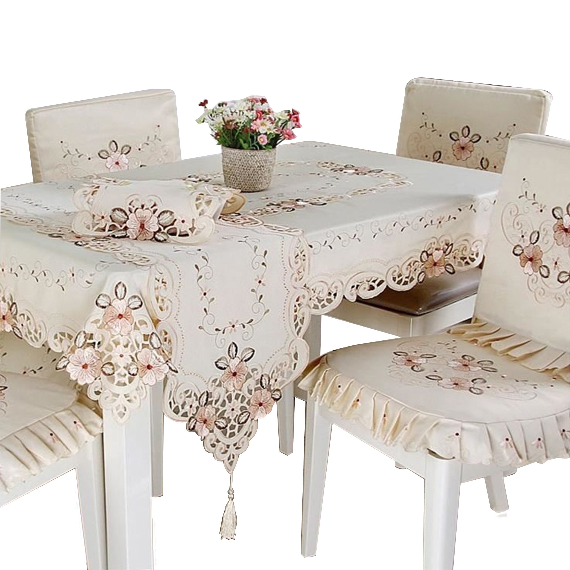 BeautiLife Luxury Table Runner Table Linens with Decorative Fringe for Spring, Summer, Family Dinners, Outdoor Parties, Everyday Use by BeautiLife