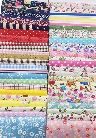 Amazon.com: levylisa 200 PCS 4'' x 4''100% Precut Cotton Fabric ... : quilt fabric bundles - Adamdwight.com