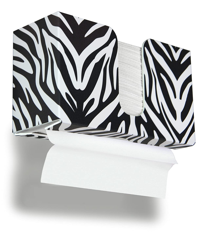 TrippNT 51908 Zebra Plastic Dual-Dispensing Paper Towel Holder 11 Width x 6 Height x 4 Depth 11 Width x 6 Height x 4 Depth