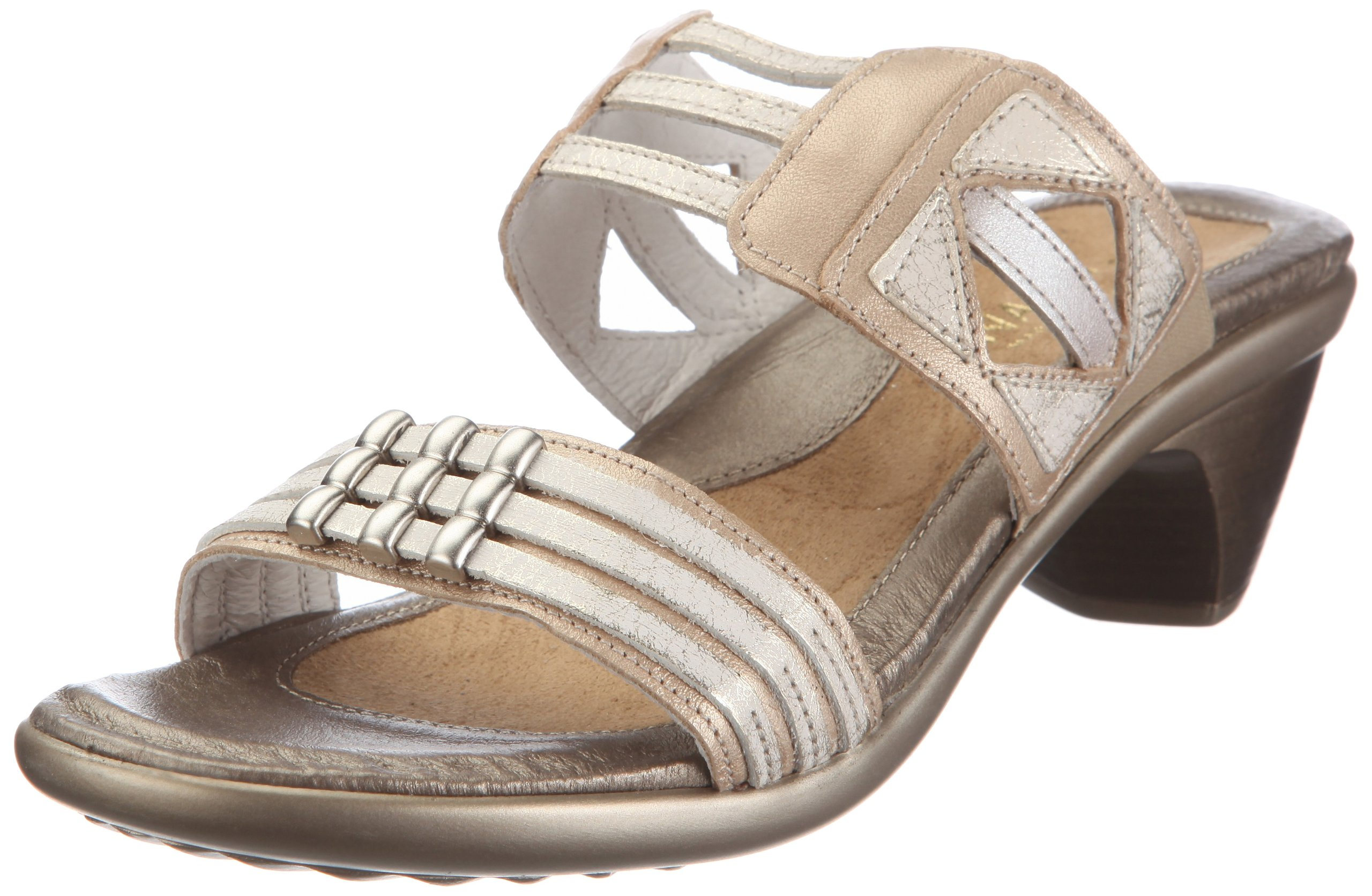 Naot Women's Afrodita Dress Sandal,Champagne Leather/Dusty Silver Leather/Quartz Leather,41 EU/9.5-10 M US