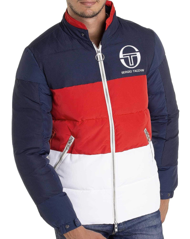 26b792a4bab9 Sergio Tacchini - Doudoune Color Block Bleu Rouge Blanc de Marque Sport  Retro stylé  Amazon.fr  Vêtements et accessoires