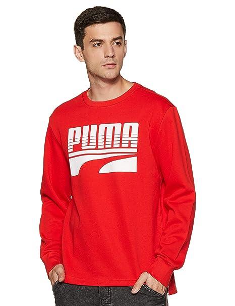 PUMA REBEL BLOCK Crew FL, Sweatshirt Uomo NUOVO EUR 41