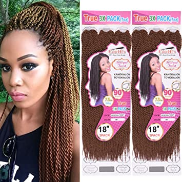 2pack Senegalese Twist Crochet Braids Hair Styles Box Braid Freetress Crochet Hair Extensions 18 Inch 90 Strands 201 Grams Pack 30