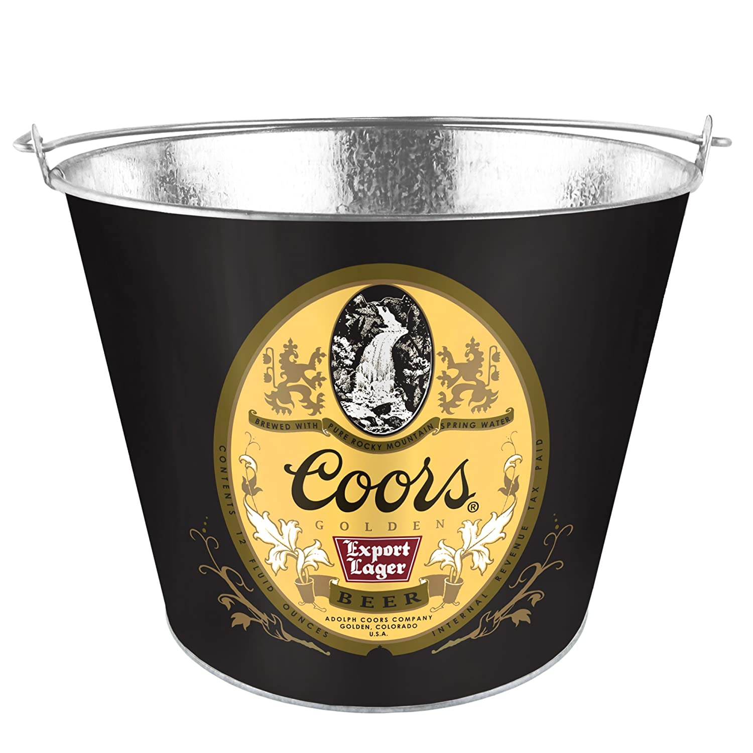 Boelter Brands Coors Retro Metal Bucket, 5 Quarts, Gray 428380