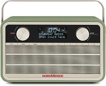 Nordmende Transita 120 Tragbares Dab Radio Dab Ukw 24 Stunden Akku Aux In Wecker 2 Weckzeiten Sleeptimer Snooze Funktion Kopfhöreranschluss Grün Heimkino Tv Video