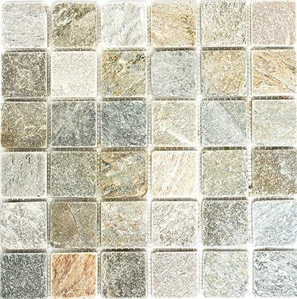 Rete mosaico mosaico piastrelle parete quarzite, colore ...