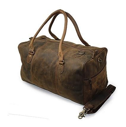 Amazon.com: CUERO SHOP Jaald - Bolsa de viaje de piel ...