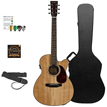 Sigma Guitars SF18CE-KIT 3 - Guitarra acústica eléctrica, kit natural 3