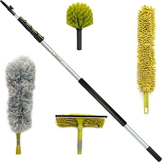 DocaPole Microfiber Feather Duster Extension Pole Attachment Clean High Surfaces