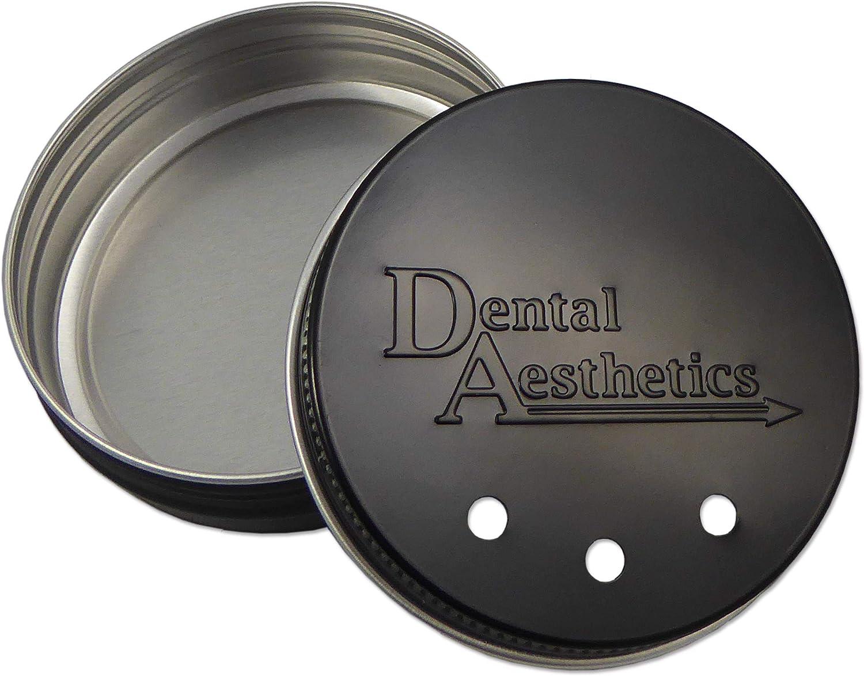 1 x caja de metal retenedor ~ caja negra o plata para protectores de goma y alineadores dentales (negro): Amazon.es: Salud y cuidado personal