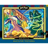 New York Puzzle Company - Harry Potter Dueling Wizards - 750 Piece Jigsaw Puzzle