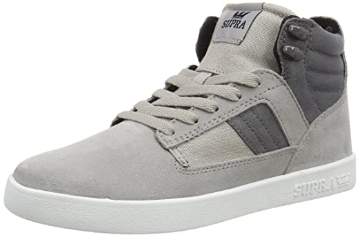 Supra Men's Bandit Grey Suede/Canvas 1 Sneaker Men's 8.5, ...