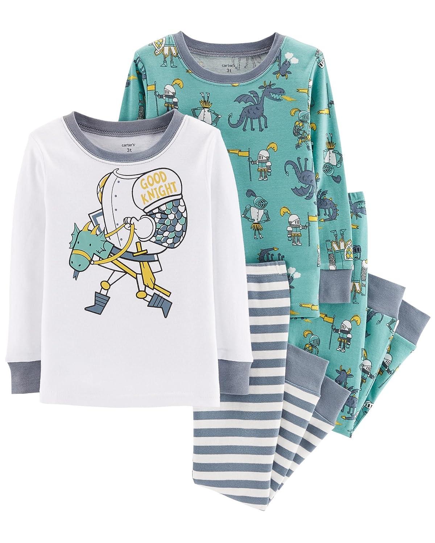 Carter's Toddler Boys 4 Pc Pajama PJs Sleep Play Sleep Snug fit Cotton Wooden Horse Good Knight