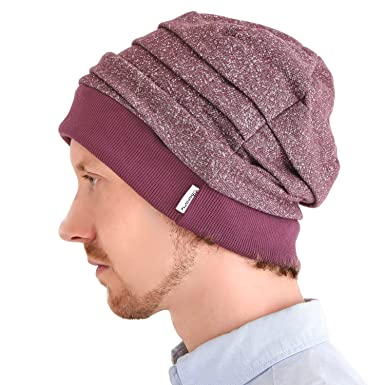 65321b34d25936 CHARM Casualbox | All Season Slouch Beanie Hat Unisex Baggy Beanie Cotton  Mens Womens Red