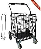 IRON MAN - Carrito de compras multifuncional - Capacidad de carga: 100kg, el más grande del mercado de carritos de compras