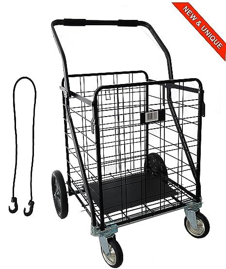 IRON MAN - Carrito de compras multifuncional - Capacidad de carga: 100kg, el más
