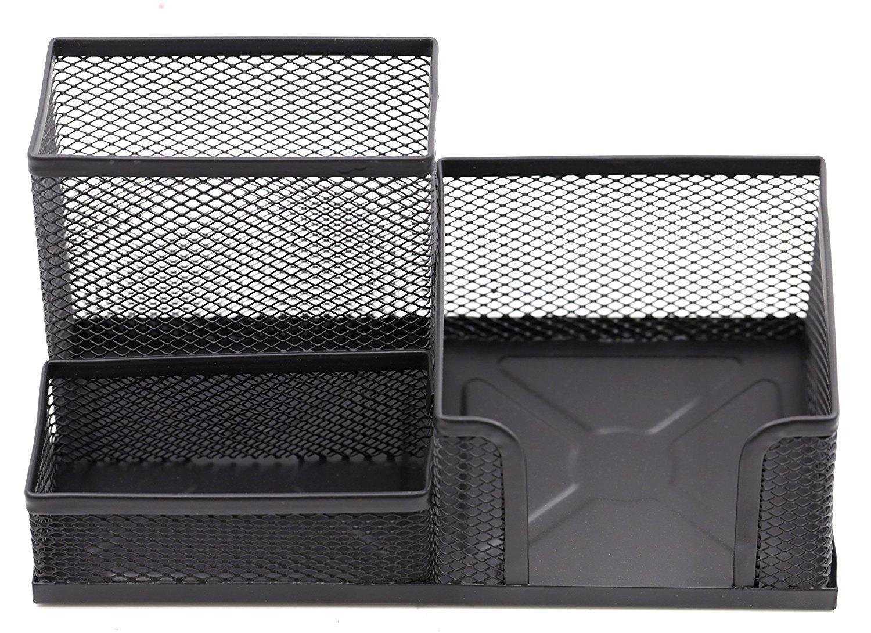 amazon com mesh desk organizer 3 compartment office supply file rh amazon com mesh desk organizer with sliding drawer black mesh desk organizer set