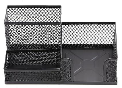 amazon com mesh desk organizer 3 compartment office supply file rh amazon com mesh desk organizer with drawers mesh desk organizer set