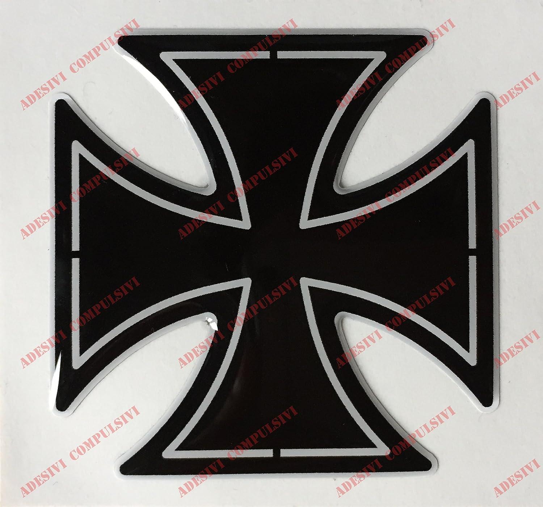 adh/ésif en r/ésine croix de Malte effet 3d Embl/ème Logo Decal Harley Davidson Pour r/éservoir ou casque