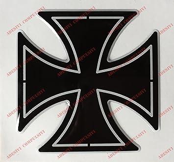 Escudo, logotipo, calcomanía, Harley Davidson, Cruz de Malta, adhesivo resinado,