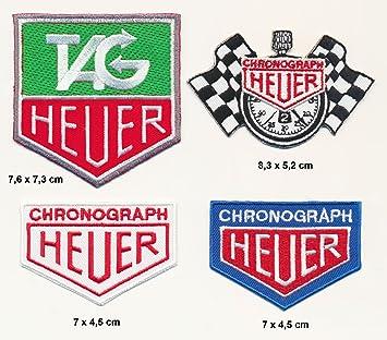 TAG Heuer parche para planchar Patch 4 pieza Motor Sport F1 Racing Team Turbo Envío: Amazon.es: Coche y moto