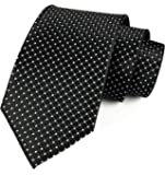 Elfeves Men Modern Tartan Formal Ties Checks Plaid Gingham Pattern Woven Necktie