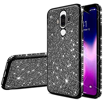 JAWSEU Funda Brillante Brillo Compatible con Huawei Mate 9 ...