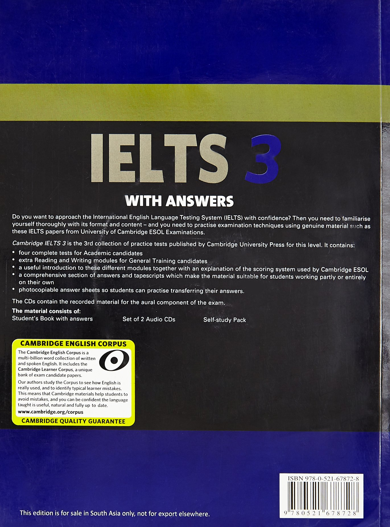 Buy cambridge english ielts 3 with answers with 2 audio cds book buy cambridge english ielts 3 with answers with 2 audio cds book online at low prices in india cambridge english ielts 3 with answers with 2 audio cds solutioingenieria Choice Image